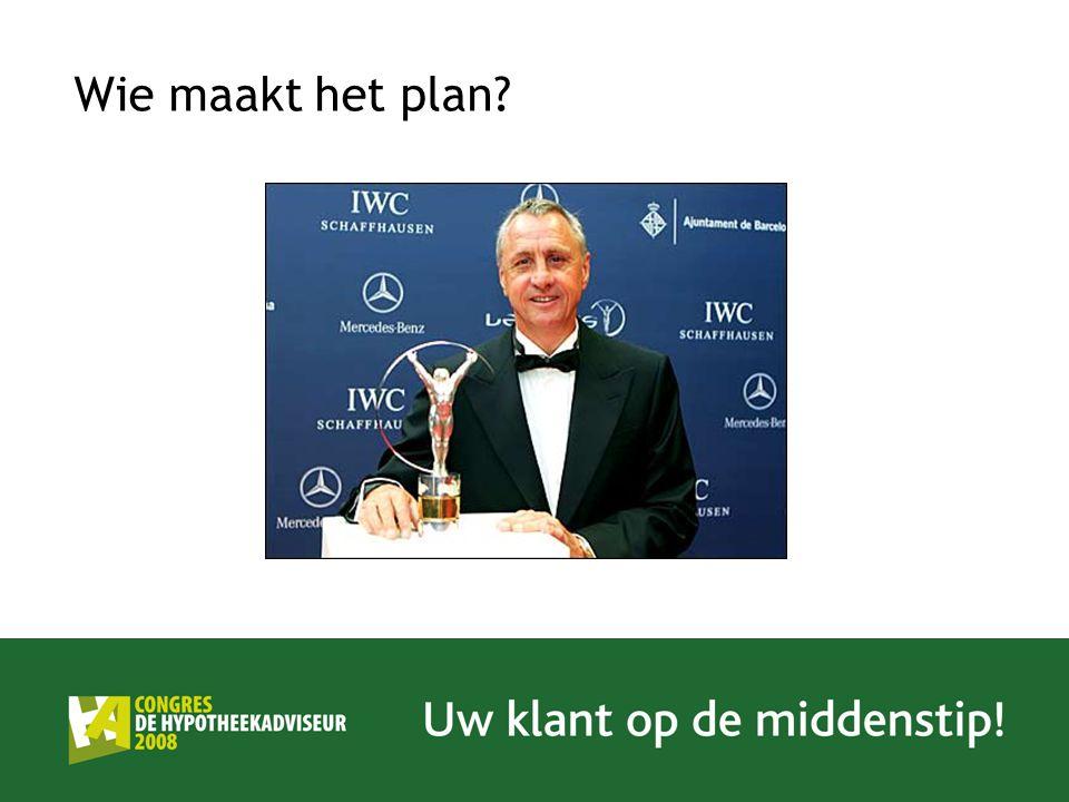 Wie maakt het plan