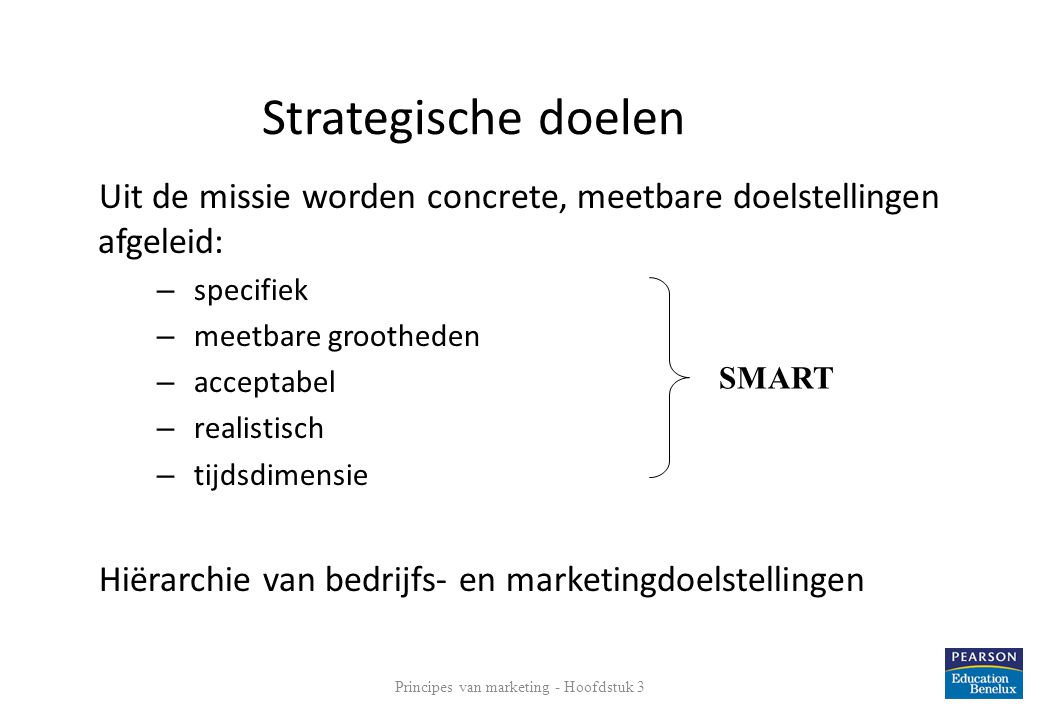 Principes van marketing - Hoofdstuk 3