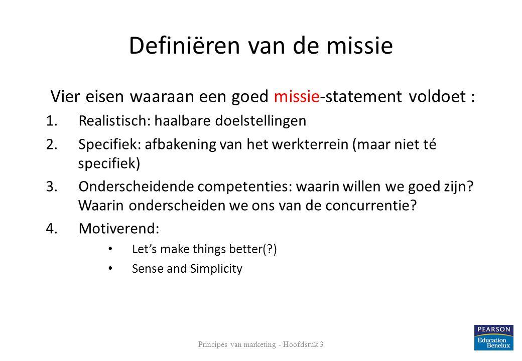 Definiëren van de missie