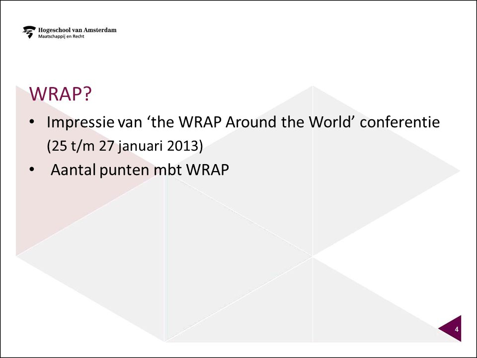 Wrap Impressie van 'the WRAP Around the World' conferentie