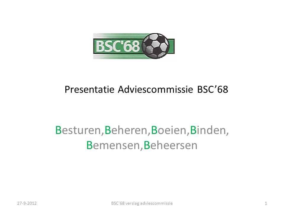 Presentatie Adviescommissie BSC'68