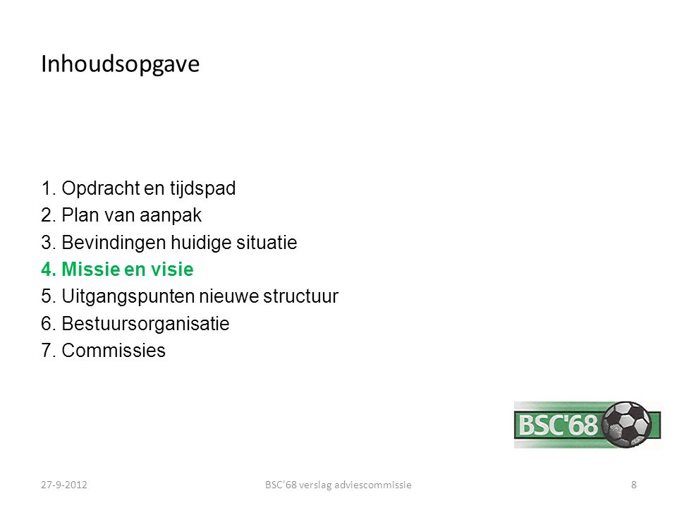 BSC 68 verslag adviescommissie