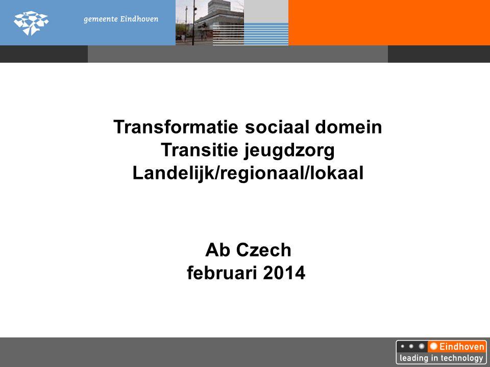 Transformatie sociaal domein Landelijk/regionaal/lokaal