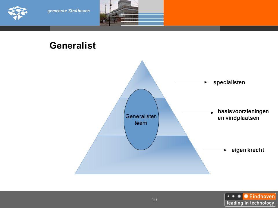 Generalist specialisten Generalisten team basisvoorzieningen