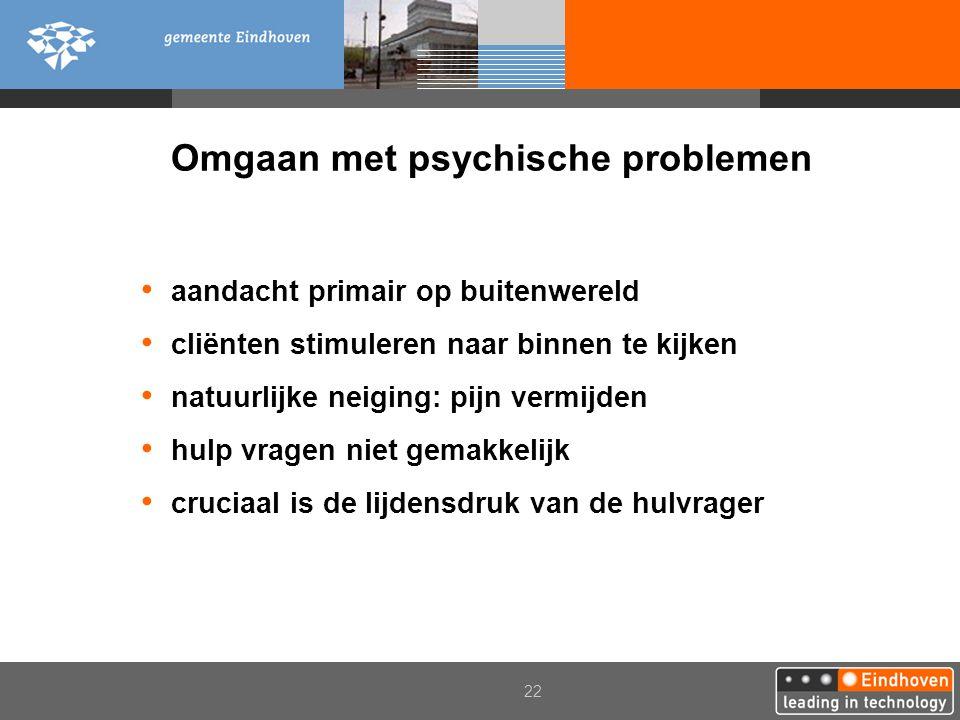 Omgaan met psychische problemen