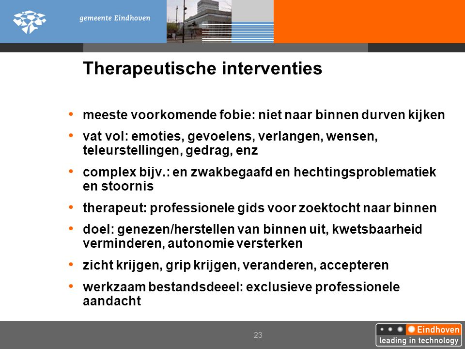 Therapeutische interventies