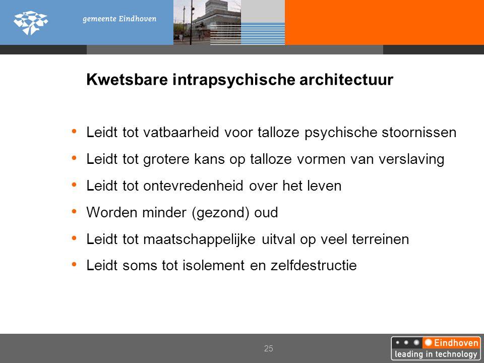 Kwetsbare intrapsychische architectuur