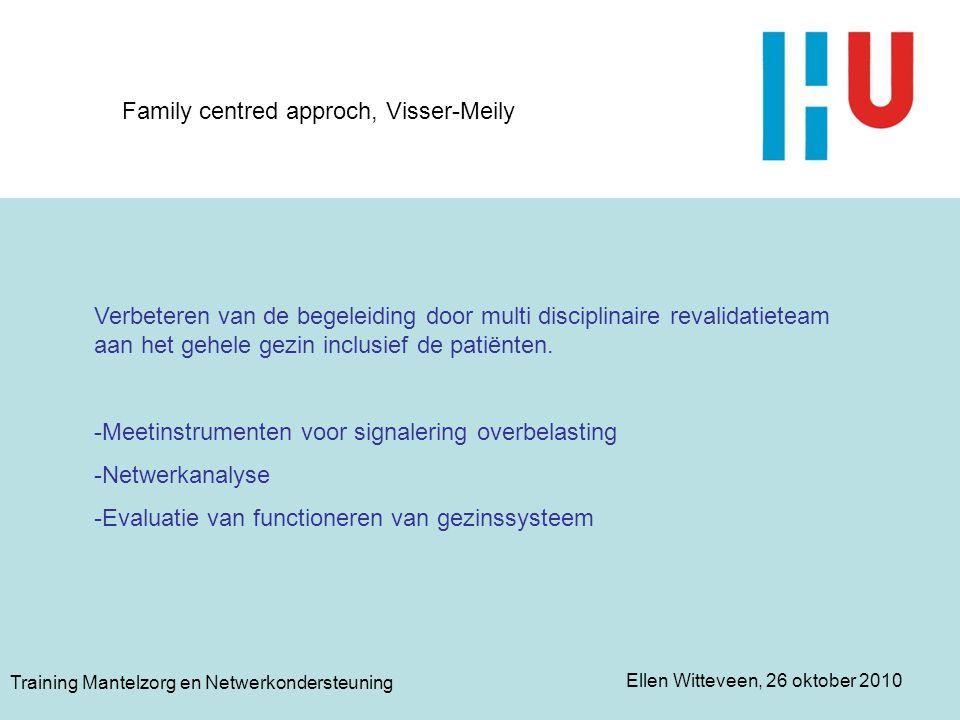 Family centred approch, Visser-Meily