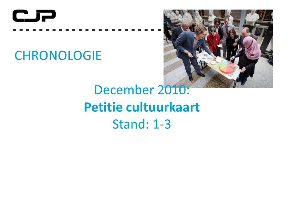 16 CHRONOLOGIE December 2010: Petitie cultuurkaart Stand: 1-3