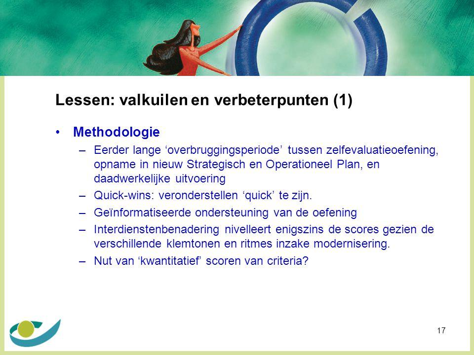 Lessen: valkuilen en verbeterpunten (1)