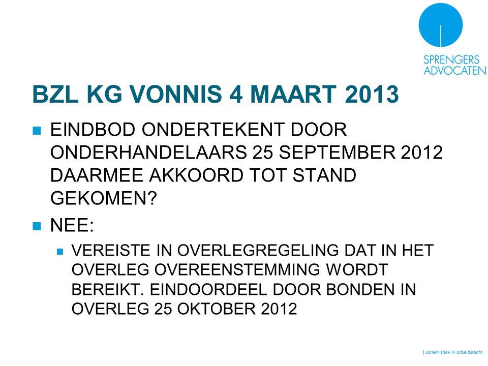 BZL KG VONNIS 4 MAART 2013 EINDBOD ONDERTEKENT DOOR ONDERHANDELAARS 25 SEPTEMBER 2012 DAARMEE AKKOORD TOT STAND GEKOMEN