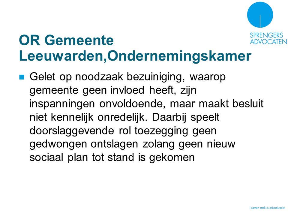 OR Gemeente Leeuwarden,Ondernemingskamer
