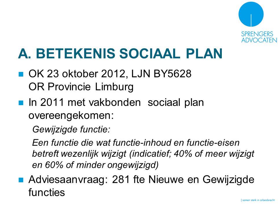 A. BETEKENIS SOCIAAL PLAN