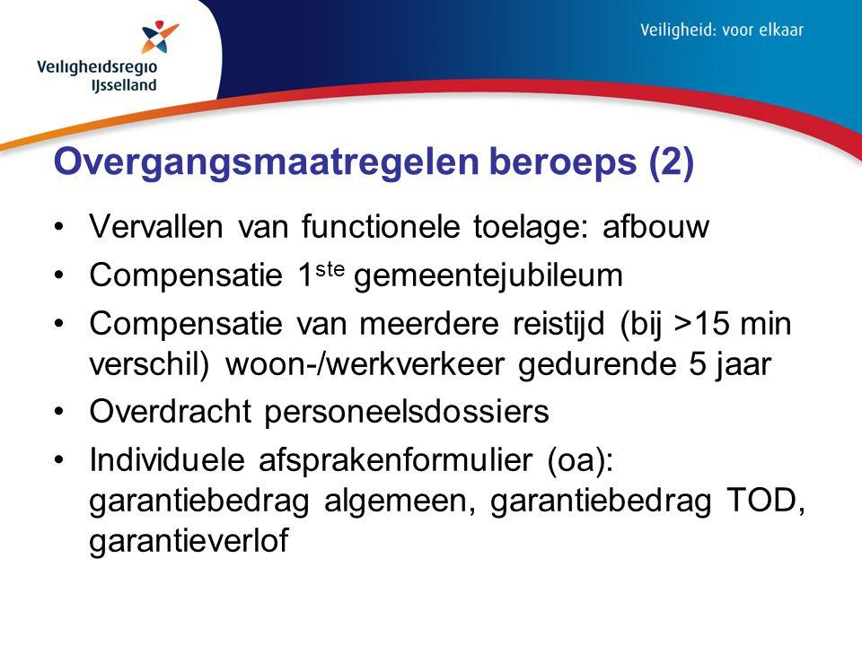 Overgangsmaatregelen beroeps (2)