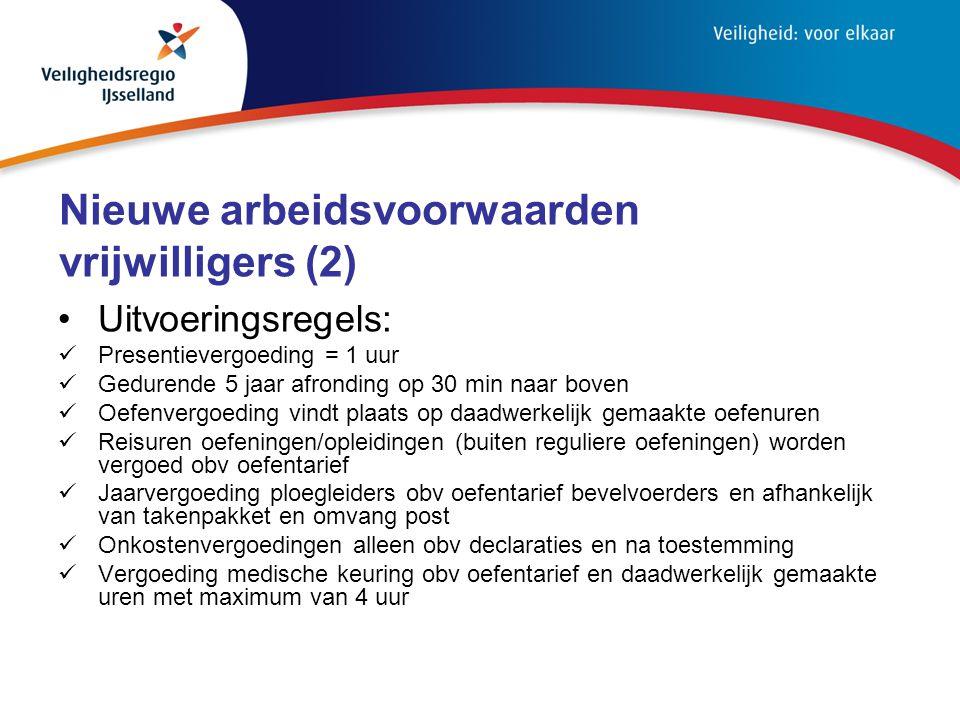 Nieuwe arbeidsvoorwaarden vrijwilligers (2)