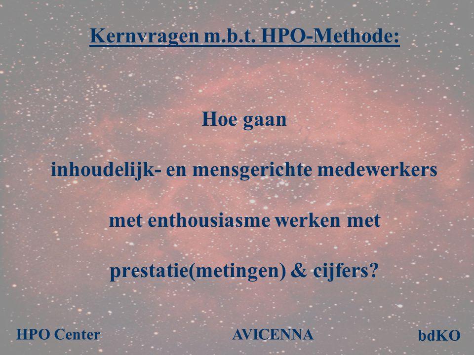 Kernvragen m.b.t. HPO-Methode: