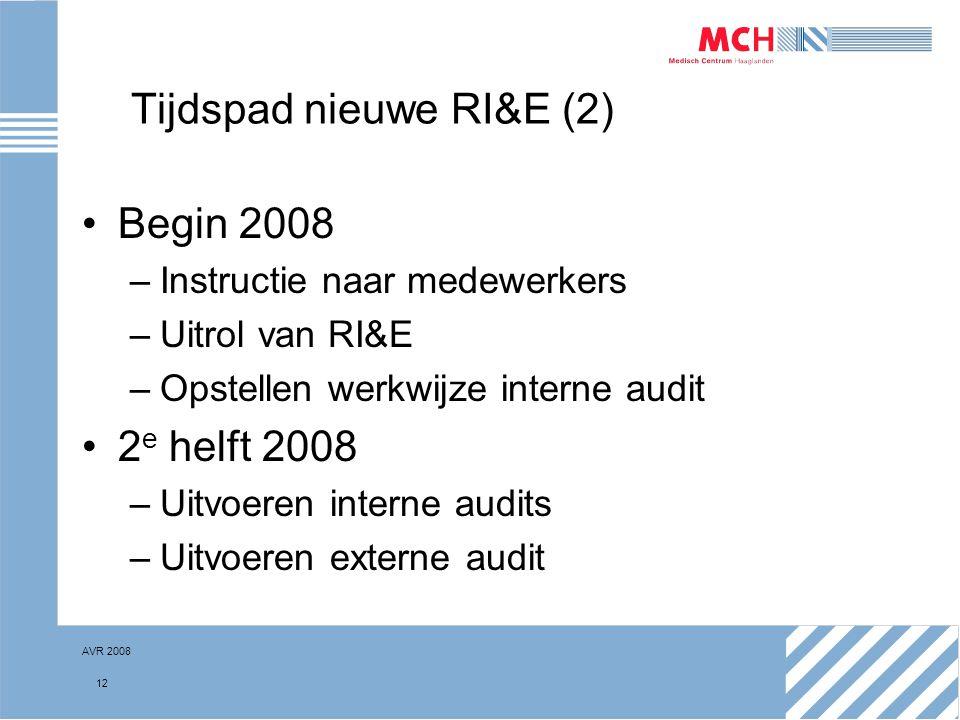 Tijdspad nieuwe RI&E (2)