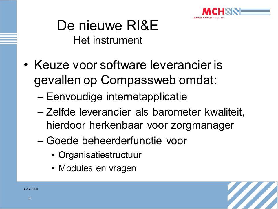 De nieuwe RI&E Het instrument