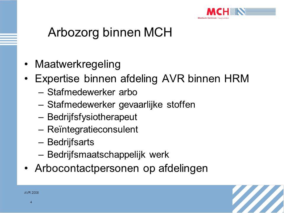 Arbozorg binnen MCH Maatwerkregeling