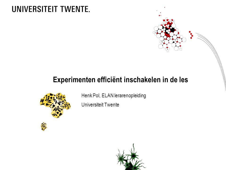 Experimenten efficiënt inschakelen in de les