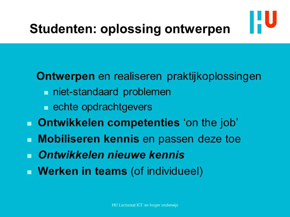 Studenten: oplossing ontwerpen