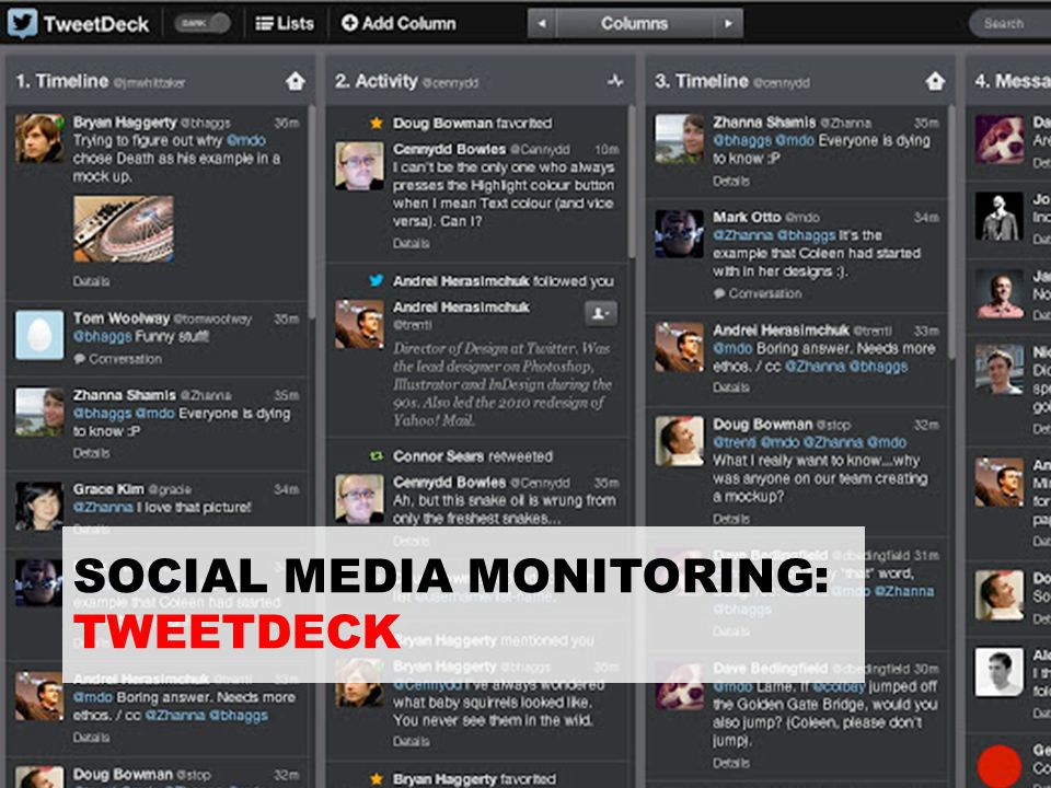 SOCIAL MEDIA MONITORING: TWEETDECK