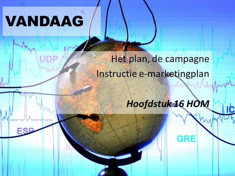 VANDAAG Het plan, de campagne Instructie e-marketingplan