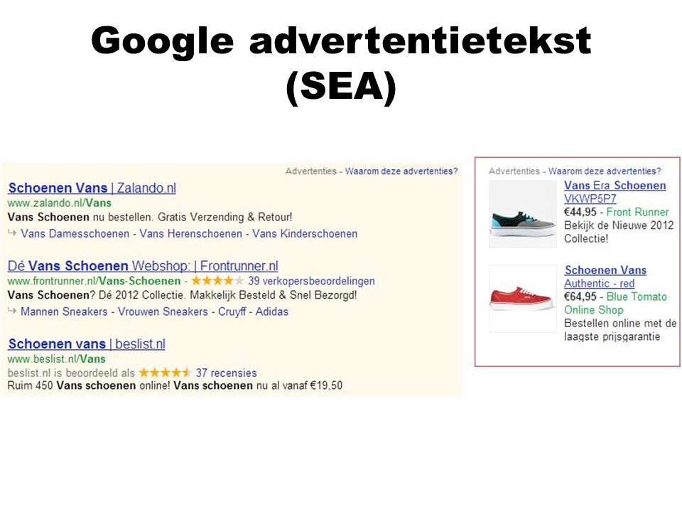 Google advertentietekst (SEA)