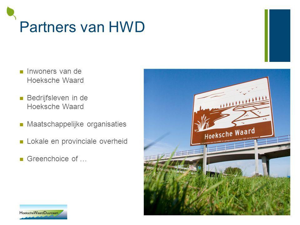 Partners van HWD Inwoners van de Hoeksche Waard