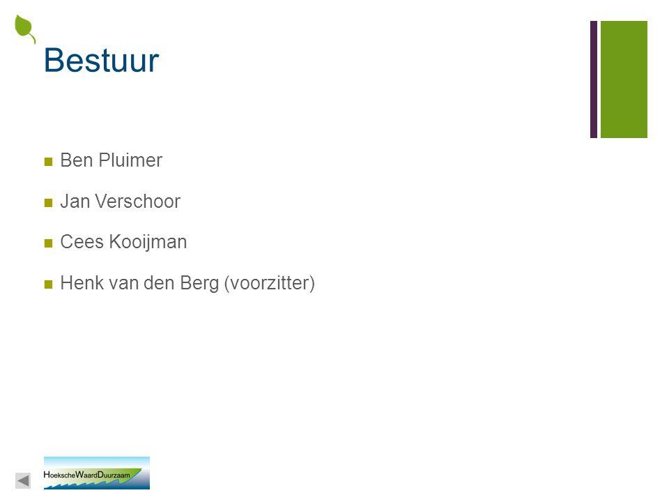 Bestuur Ben Pluimer Jan Verschoor Cees Kooijman
