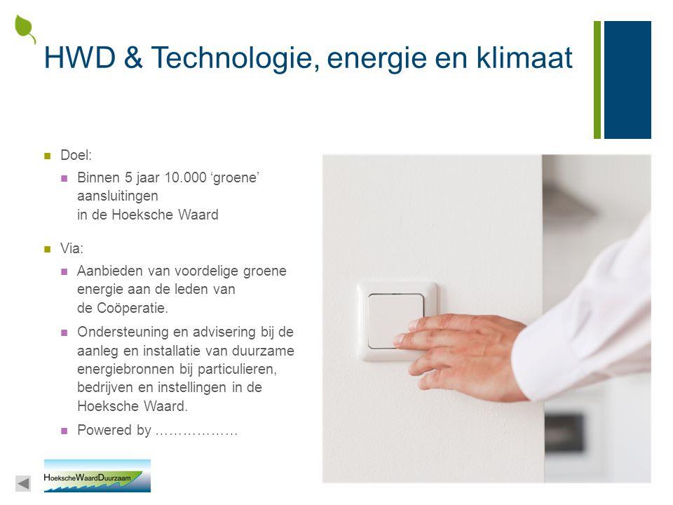 HWD & Technologie, energie en klimaat