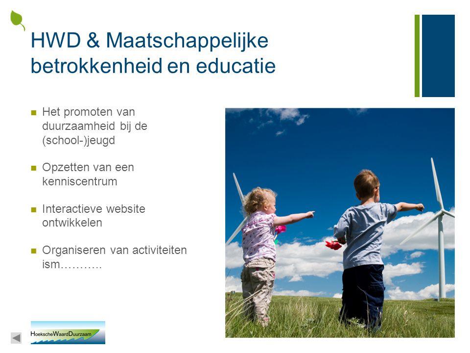 HWD & Maatschappelijke betrokkenheid en educatie