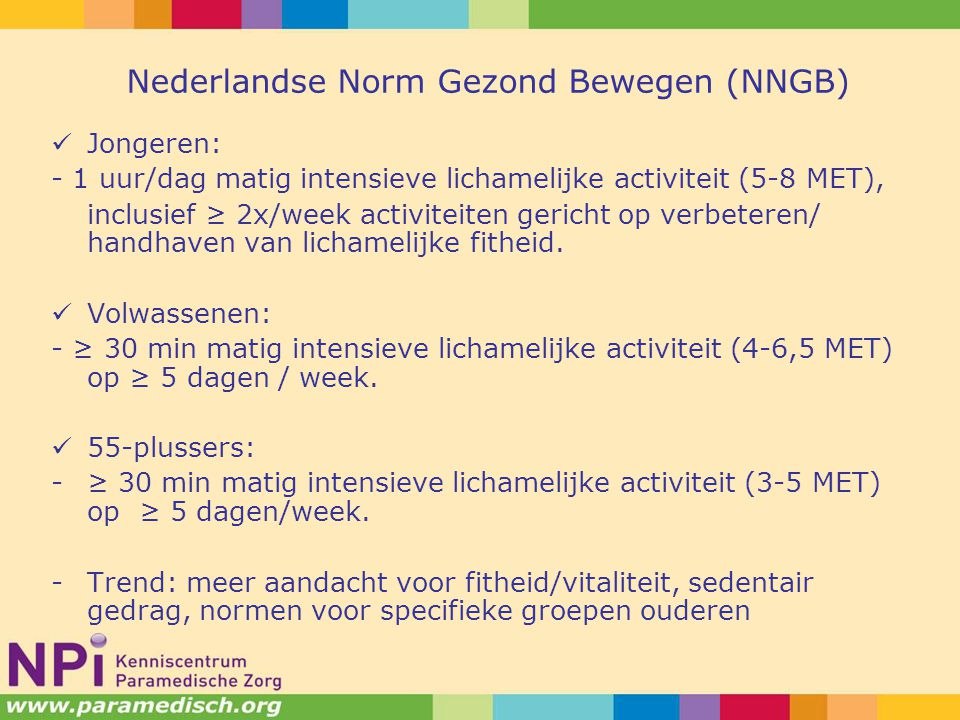 Nederlandse Norm Gezond Bewegen (NNGB)