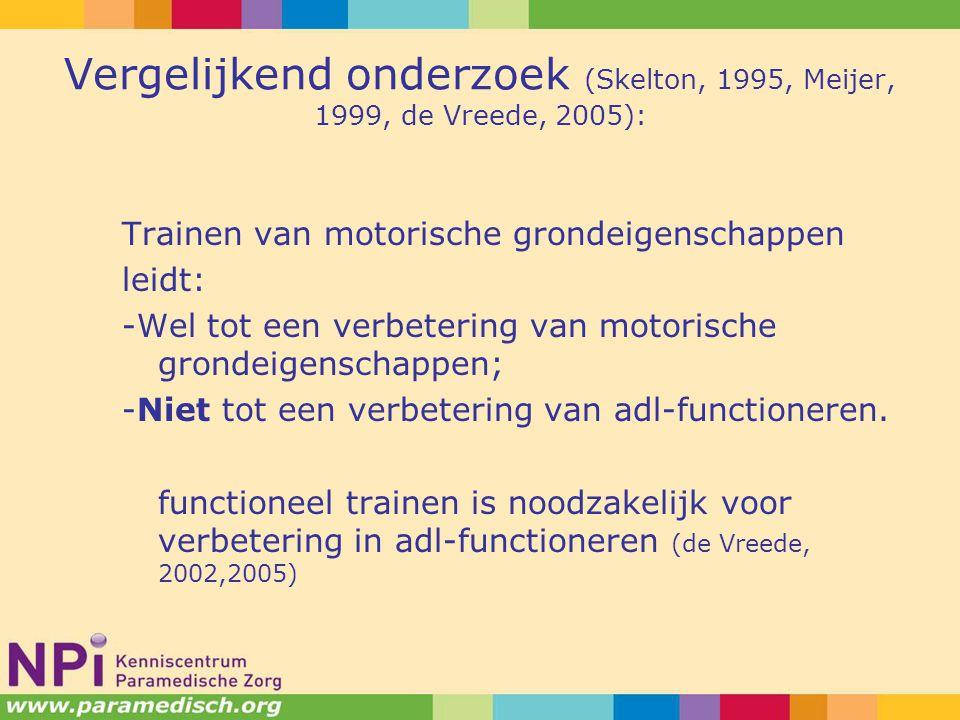 Vergelijkend onderzoek (Skelton, 1995, Meijer, 1999, de Vreede, 2005):