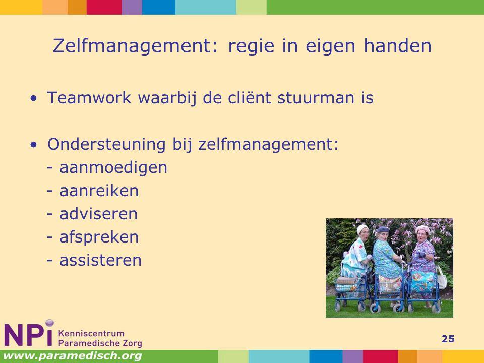 Zelfmanagement: regie in eigen handen