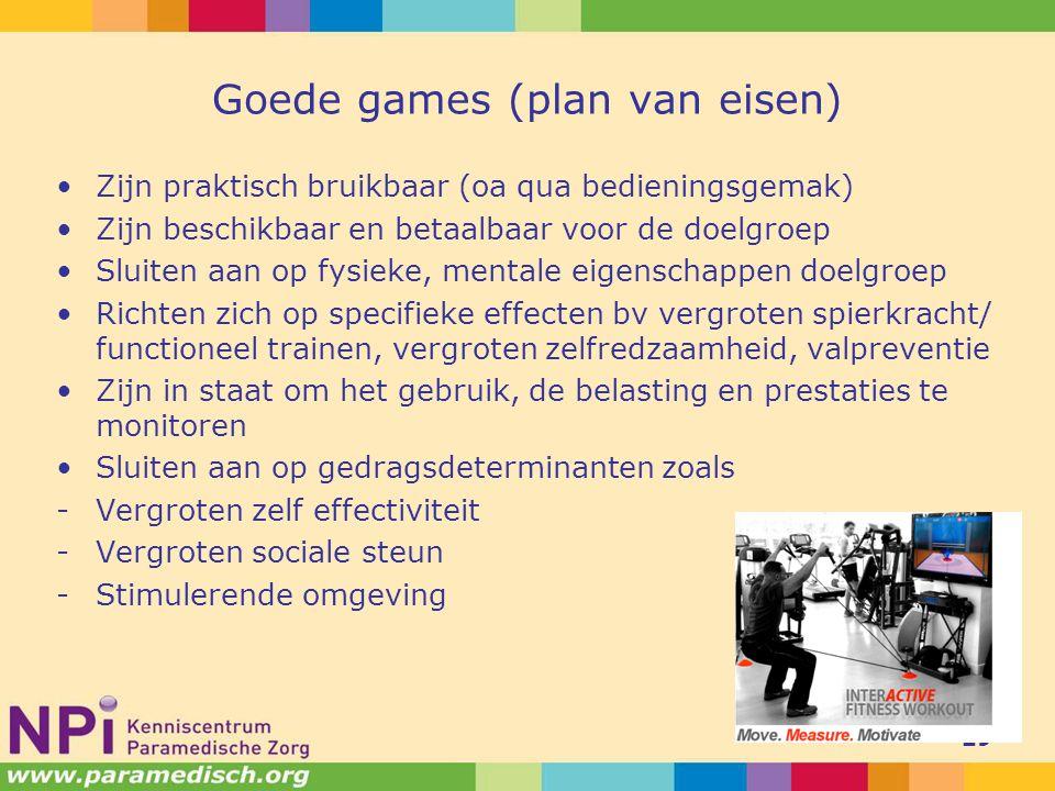 Goede games (plan van eisen)