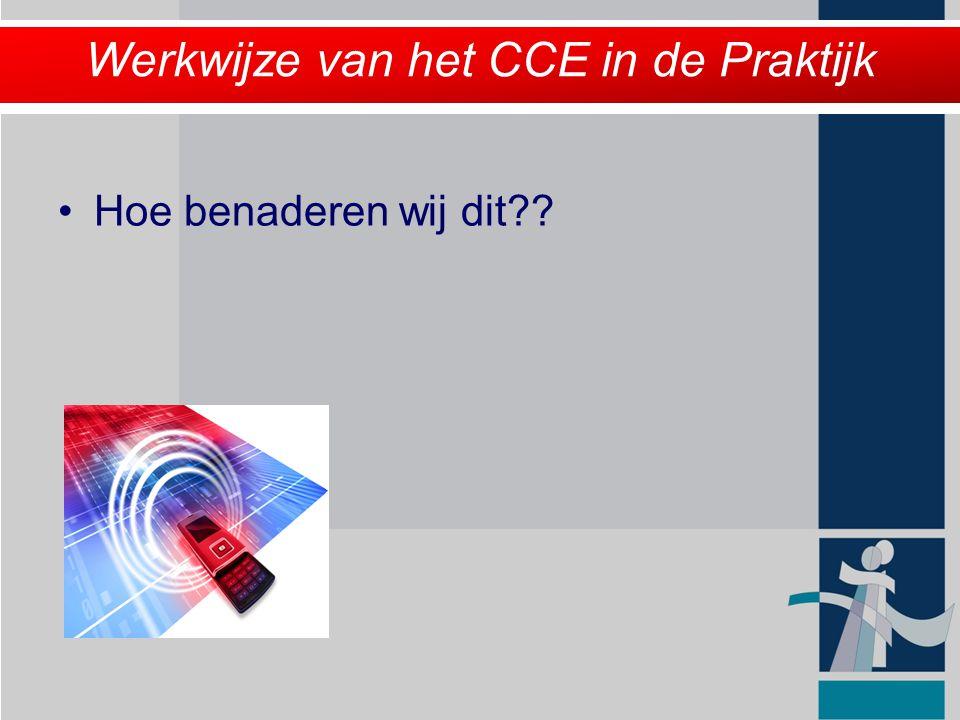 Werkwijze van het CCE in de Praktijk