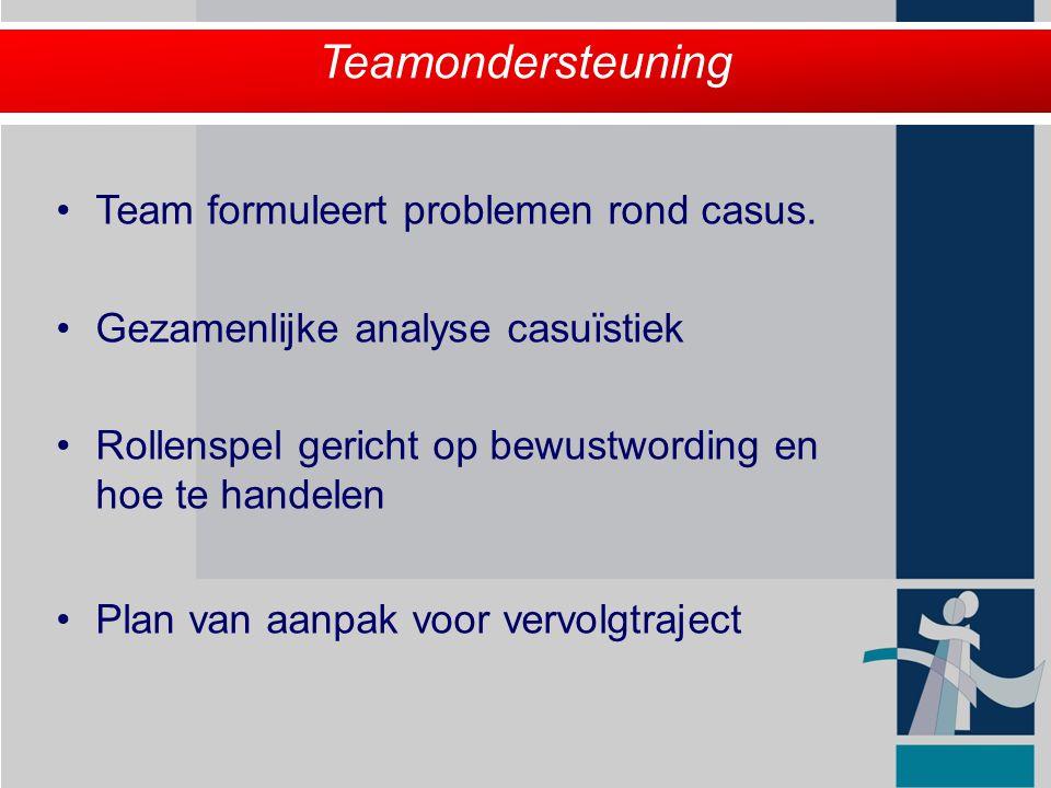 Teamondersteuning Team formuleert problemen rond casus.