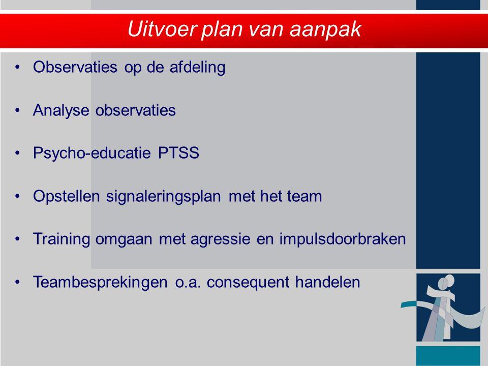 Uitvoer plan van aanpak