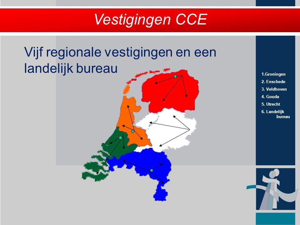 Vestigingen CCE Vijf regionale vestigingen en een landelijk bureau 5
