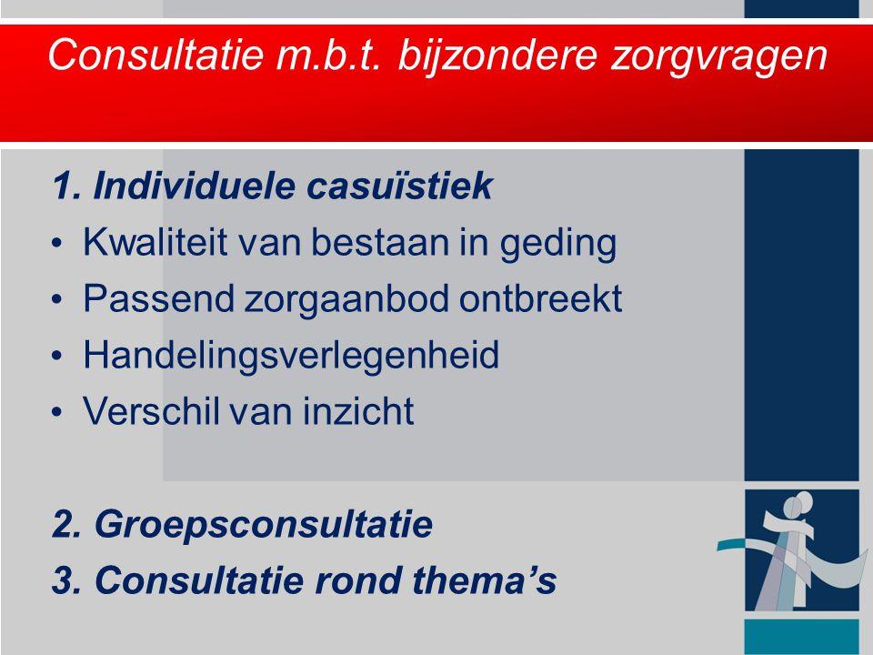 Consultatie m.b.t. bijzondere zorgvragen