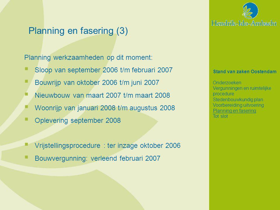 Planning en fasering (3)