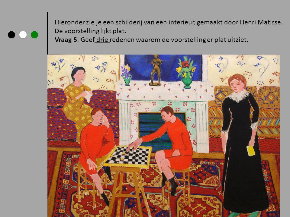 Hieronder zie je een schilderij van een interieur, gemaakt door Henri Matisse.