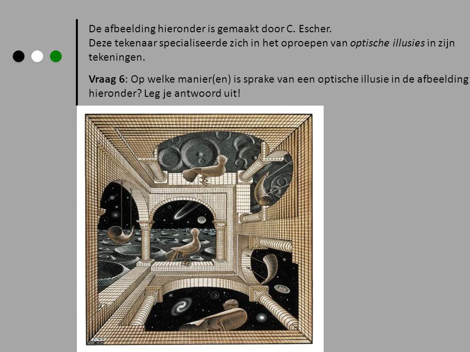 De afbeelding hieronder is gemaakt door C. Escher.