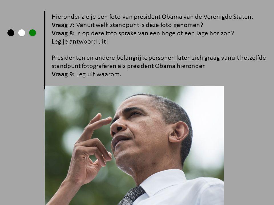 Hieronder zie je een foto van president Obama van de Verenigde Staten.
