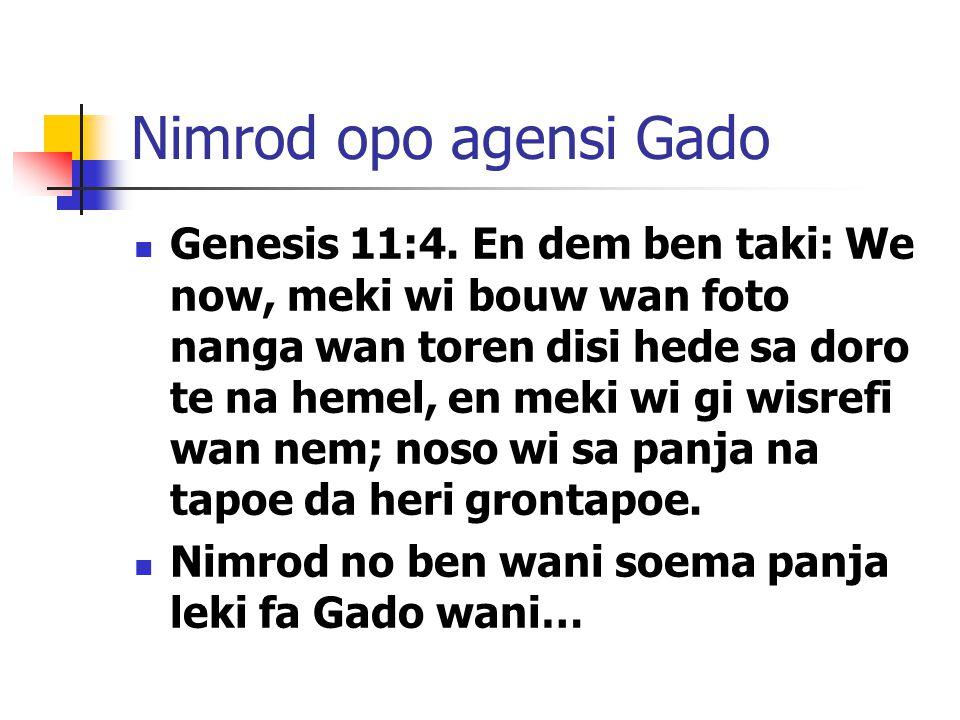 Nimrod opo agensi Gado