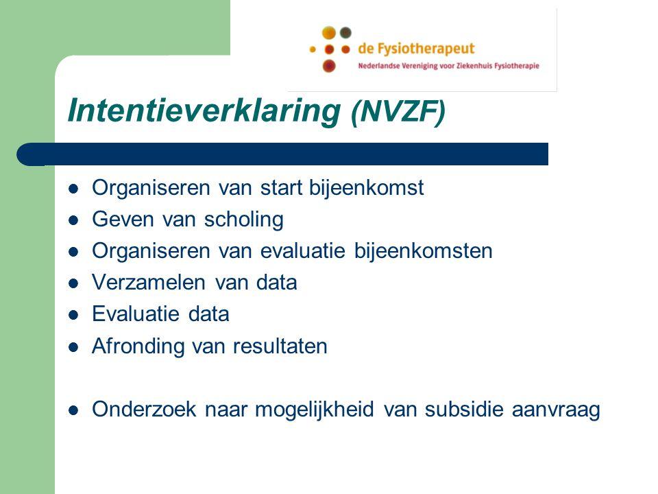 Intentieverklaring (NVZF)