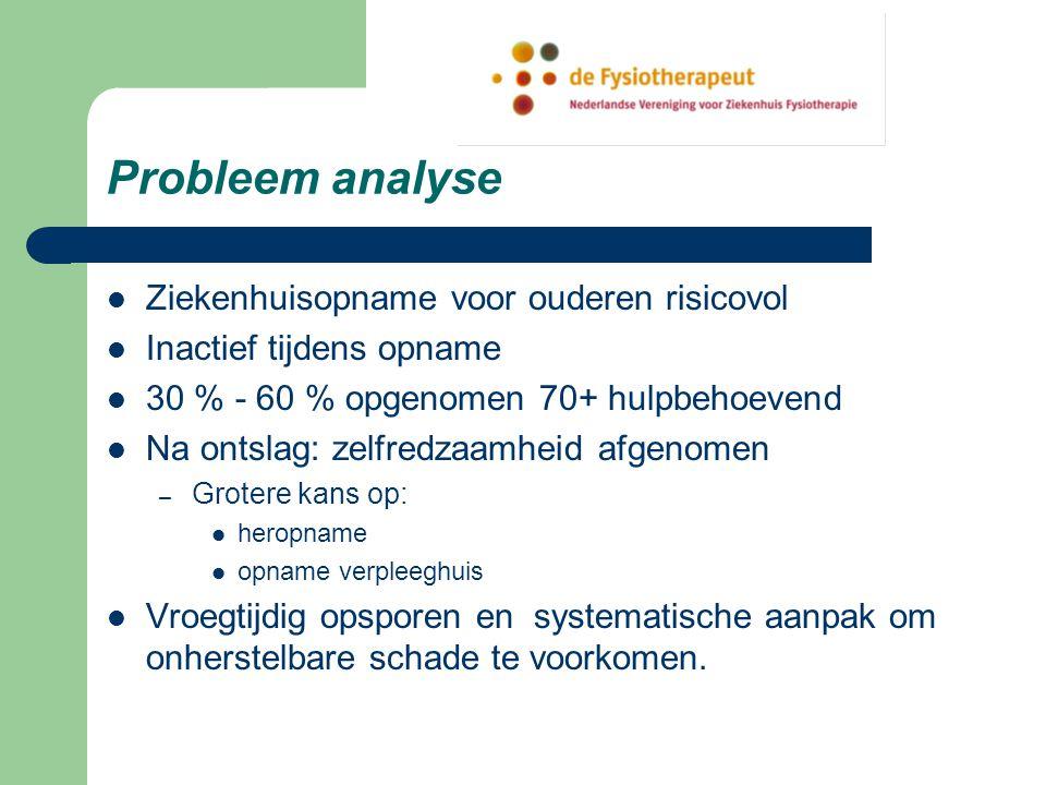 Probleem analyse Ziekenhuisopname voor ouderen risicovol