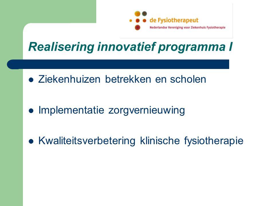 Realisering innovatief programma I