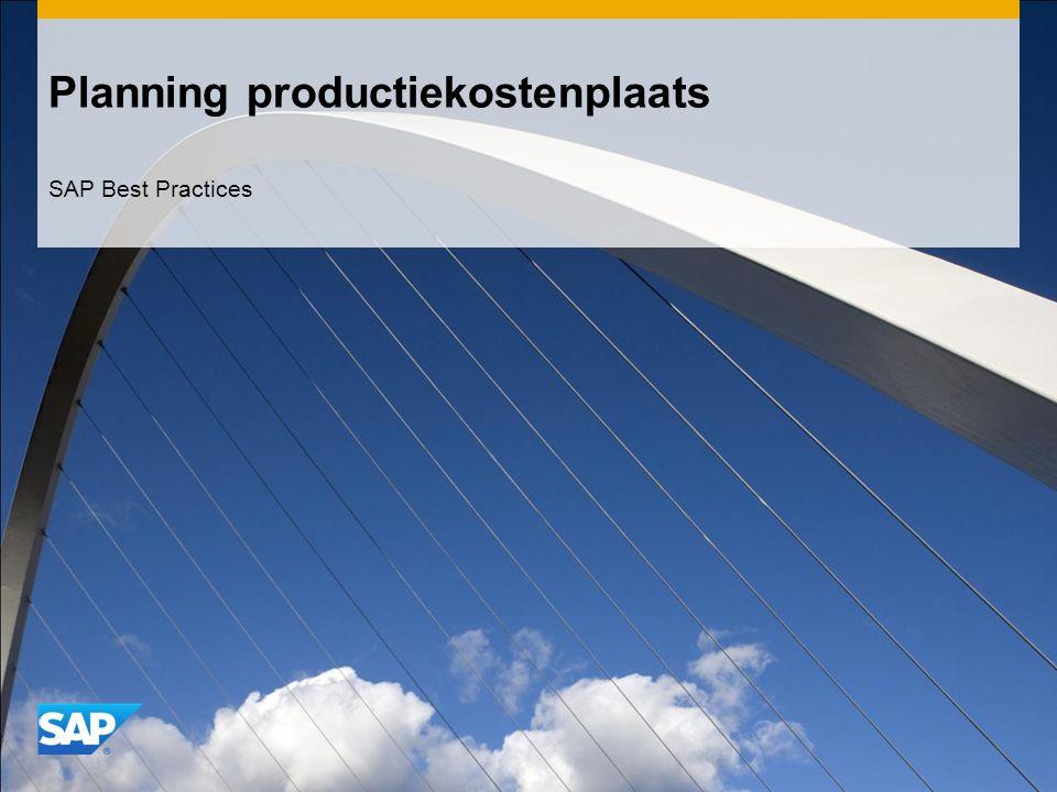Planning productiekostenplaats